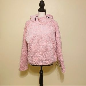 VS PINK Marled Baby Pink and White Sherpa